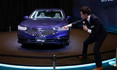 Launching the new Honda self-driving car.